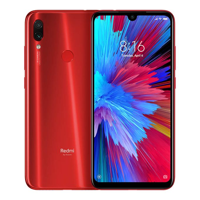 XIAOMI Mi Note 7 Pro (6.3'' full HD Dot Drop display ) , Andriod 9.0, 4GB/128GB,main Camera:48MP+5MP,Selfie:12MP,4000mAh, 4G network , color : Nebula Red [ clone ]