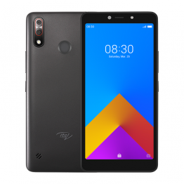 Itel A55, 6.0 IPS screen, Android 9 pie Edition , 16GB ROM+1GB RAM, 8.0MP Rear+8.0MP Camera, Battery 2900 mAh-Black