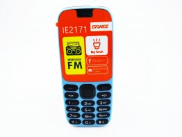 Gionee-IE2171 Gionee feature phone with 1000MAH battery , FM Radio ,  bright torch , big speaker , color blue