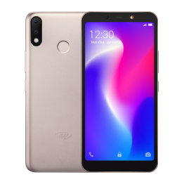 "Itel S33 Android 8.1(GO Edition) - 6.0"" Ips Full HDDisplay - Fingerprint  -16gb Rom + 1gb Ram - - Face Unlock-13mp Selfie Camera[dual Rear Camera] + 8mp Camera -3000mah Battery -champagne Gold"