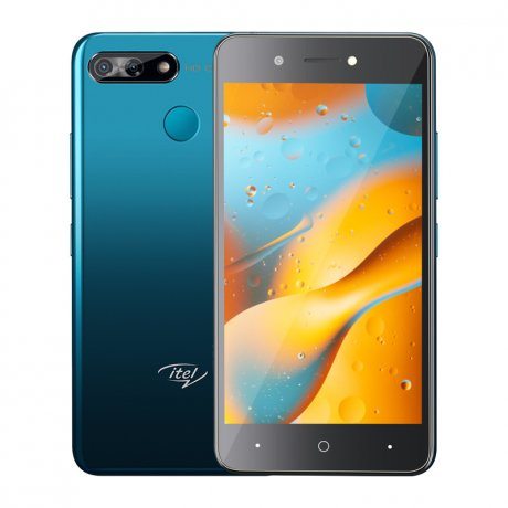 "Itel P15 5.0"" HD Screen, (16GB ROM + 1GB ROM), Android 9 Pie, 5MP + 5MP Camera, 4000mAh Battery, Fingerprint & Face detection - Black"